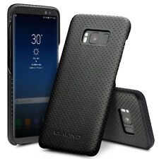 QIALINO Mesh Holes Genuine Leather Skin PC Case for Samsung Galaxy S8 Plus G955