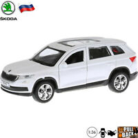 Diecast Car Scale 1:36 Skoda Kodiaq White Crossover Russian Model Toy Cars