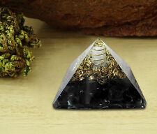 Orgone Pyramid Tourmaline Crystal Energy Generator EMF Protection Reiki
