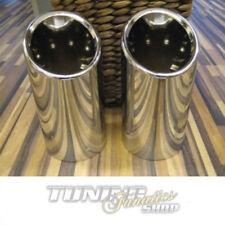 2x ORIGINALE FINALE Cappa COPERTURA CROMO VW SEAT SKODA DAL 65mm Tubo finale
