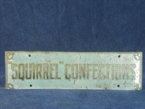 53415 Old Vintage Antique Tin Sign Shop Advert N0t Enamel Toffee Squirrel