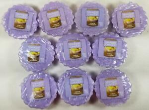 Yankee Candle Tarts: LEMON LAVENDER Wax Melts Lot of 10 Purple New Tangy Floral