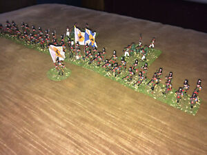 54 Painted 1/72 Napoleonic Russian Light Infantry Regiment w 2 Artillery Pieces