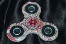 Geometric White & Red Lotus Flower Design Fidget Spinner Toys Figet Spiner NEW