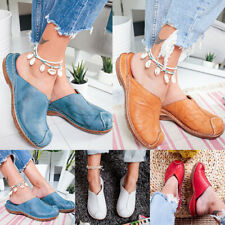 Women Casual Flat Shoes Slip On Sandals Slippers Loafers Comfort Round Toe Mules
