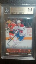 2013-2014 UPPER DECK BRENDAN GALLAGHER YOUNG GUNS EXCLUSIVES 087100 BGS 9.5