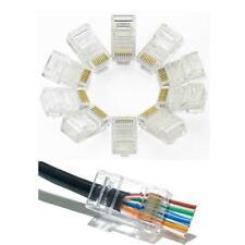 EZ RJ45 CAT5e CAT6 Pass Through Connectors Crimp End Network Lan Cable Wholesale