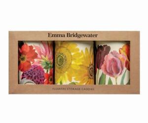Emma Bridgewater Flowers set of 3 storage caddies