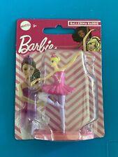 "Mattel Ballerina Barbie 3"" Mini Figure Cake Topper. New in package."
