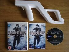 Call of Duty World at War + Zapper Gun Wii & Wii U SHOOTER **FREE UK P&P**