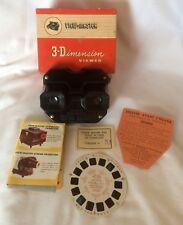 Visor 3-D View Master Baquelita Vintage Modelo E Caja Original Vista previa Reel Etc