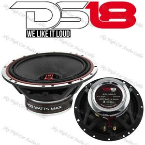 "DS18 EXL SQ6.5 Pair 6.5"" 2 Way Coaxial Speaker 400 Watts Max Power 2 Speakers"