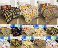 Emoji Emoticon Icons Bedding Duvet Cover Set Single Double King Pillow Cushion