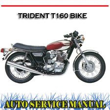 TRIUMPH TRIDENT T160 BIKE WORKSHOP SERVICE REPAIR MANUAL ~ DVD
