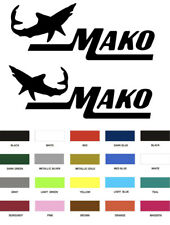 2 MAKO MARINE BOAT STICKER DECAL FISHING *ANY SIZE OR COLOR AVAILABLE* DECALS