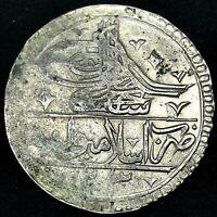 TURKEY OTTOMAN -SELIM III (1789-1807)-SILVER YUZLUK 1203/1819-RARE