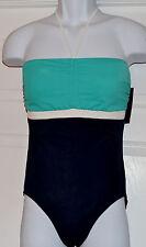 Tommy Hilfiger Bandeau Halter One piece Swimsuit Sz 12 Cinch Front Maillot K2