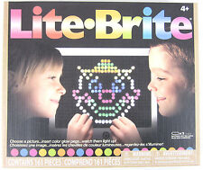 LITE-BRITE Magic Screen Set Pegs Templates Storage Tray Light Bright Box