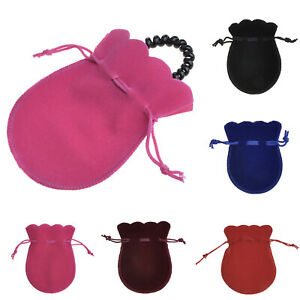5pc Velvet Drawstring Gift Bags Wedding Jewelry Candy Storage Bag Pouch 9*12cm