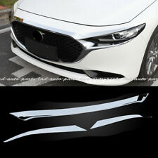 Chrome Front Grille Engine Cover Molding Trim Fit For Mazda 3 Axela 2019-2020