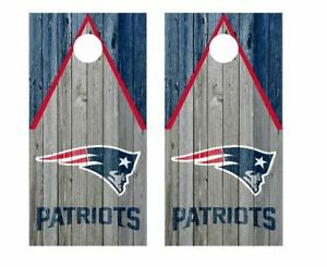New England Patriots Cornhole Wraps Skins Decals Stickers Vinyl NFL
