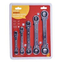 5PC RING RATCHET SPANNER SET 6-21mm DIY TOOL WRENCH MECHANIC GARAGE IMPERIAL