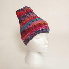Funky Hand Knitted Winter Woollen Beanie Hat, One Size, UNISEX NB10