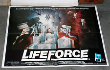 LIFEFORCE original 1985 RARE quad movie poster STEVEN RAILSBACK/MATHILDA MAY