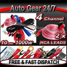 1000W 10 Awg Gauge 2,4 CANALE AUTO FURGONE AMP SUB BOX AMPLIFICATORE completo kit di cablaggio