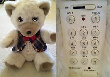 K C Bearifone Collectors Talking Bear Speaker Phone - Fully Functioning, Vintage