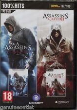 Assassin's Creed and Assassin's Creed II Double Pack PC DVD SEALED NEW