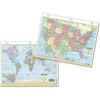 Universal Map 0762561300 US and World Notebook Map