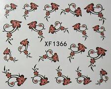 Accessoire ongles : nail art - Stickers autocollants motifs arabesques de fleurs