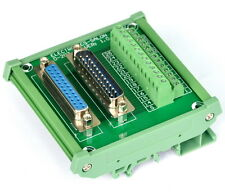 DB25 D Sub DIN Rail Mount Interface Module, Male / Female, Breakout Board.
