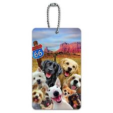 Route 66 Southwest Dogs Selfie Lab Retriever Westie Luggage Card Carry-On ID Tag