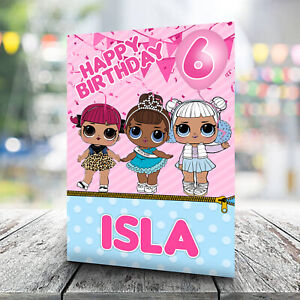 LOL Birthday Card - Personalised With Any Name and Age