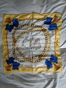 Vintage Comtesse Chains Handbag And Bows Silk Scarf Women's