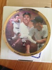"""sports impressions cllector plate mickey mantle """"yankee forever"""" 1993 new"""