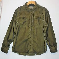 Justice Brothers Button Front Green Corduroy Top, Xxl (16)