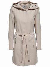 38/9 NEU ONLY Damen Mantel Jacke onlCHRISTIE HOODED SPRING COAT OTW Gr. M beige