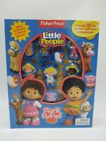 Little People Book Board Game 10 toy suction cups Stuck on Stories Storybook