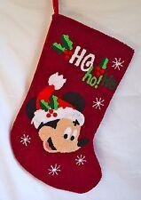 Disney Parks Santa Mickey Mouse Ho Ho Ho Holly Christmas Holiday Stocking