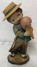 "Vintage Anri Ferrandiz 6� Hand Carved Wood ""Boy With Ice Cream Cone� Italy"