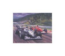 Litho Decisive Move (McLaren Hakkinen Ferrari Schumacher) door Michael Turner