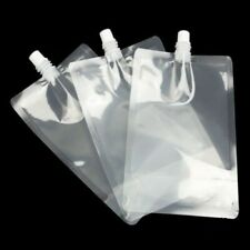 4 x 500ml Pouch Drinks Bag Smuggle Booze Cruise Festival Reusable Genuine UK