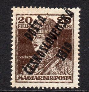 Czechoslovakia 20f Semi Postal Stamp 1919 Mounted Mint (4456)