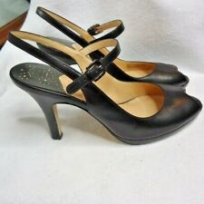 Cole Haan Black Peep Toe Mary Jane Heels Size 8.5 AA