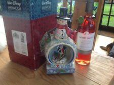 "v rare disney tradition 'light up/musical/rotating/Mickey snowman' 10.5"" boxed"