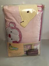 New Too Good by Jenny McCarthy Selvalicious Pink 4 pc Crib Bumper Animals Nip