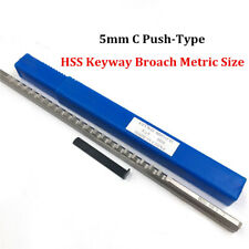 Keyway Broach 5mm C Push Type Metric Size Cnc Metalworking Cutter Cutting Tool